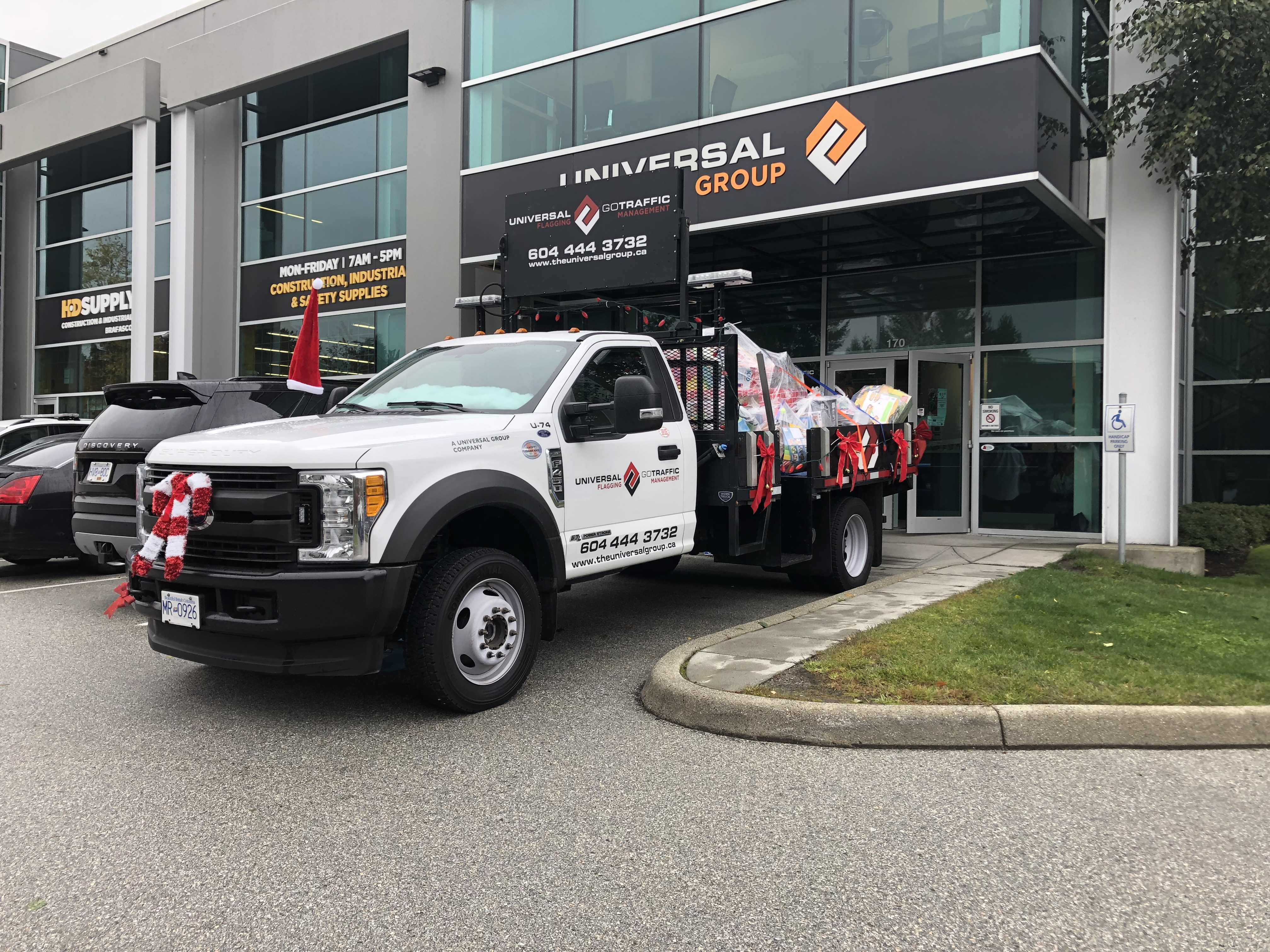 Universal truck brings toys for kids in need
